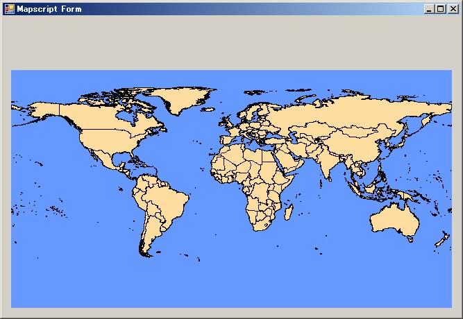 C#/Mapscriptの実行画面